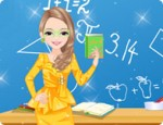 العاب تلبيس معلمة الرياضيات