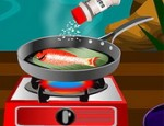 العاب طبخ سمك مشوي