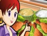 العاب طبخ سارة الدجاج المحمر في الفرن