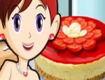 العاب طبخ سارة كعكة الفراولة و الجبن