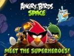 لعبة الطيور الغاضبة في الفضاء