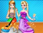 لعبة السا و آنا تزيين الاحذية
