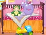 لعبة ديكور سرير الاطفال