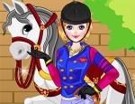 العاب تلبيس بنت و حصانها